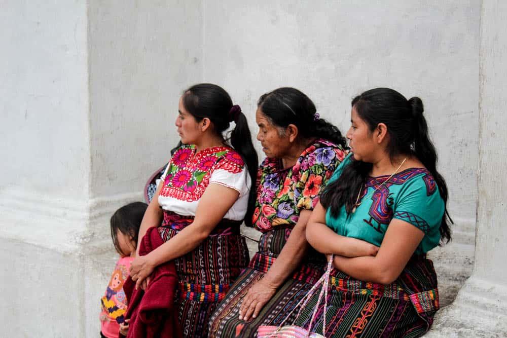 Frauen auf dem Markt in Chichicastenango