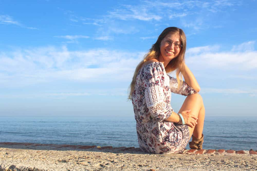 Barbara am Meer in Cartagena