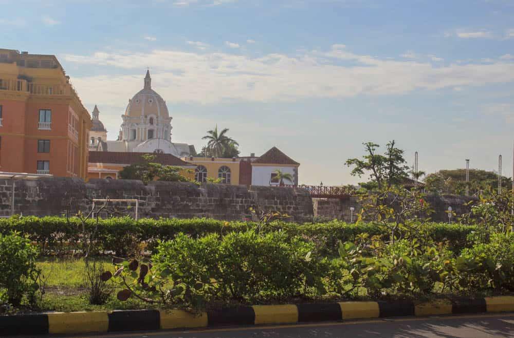 Kirchturm über Cartagena