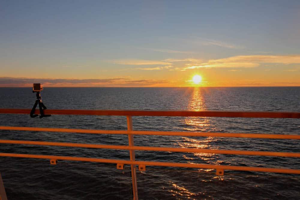 Sonnenuntergang und GoPro