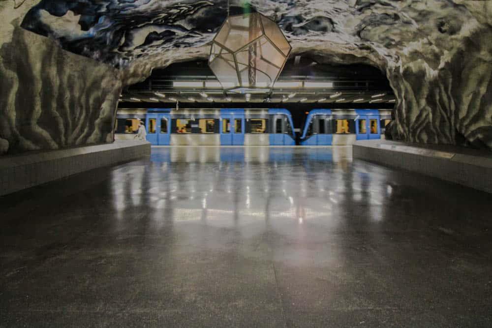 In Stockholms U-Bahnsystem: Metrostation Tekniska Högskolan