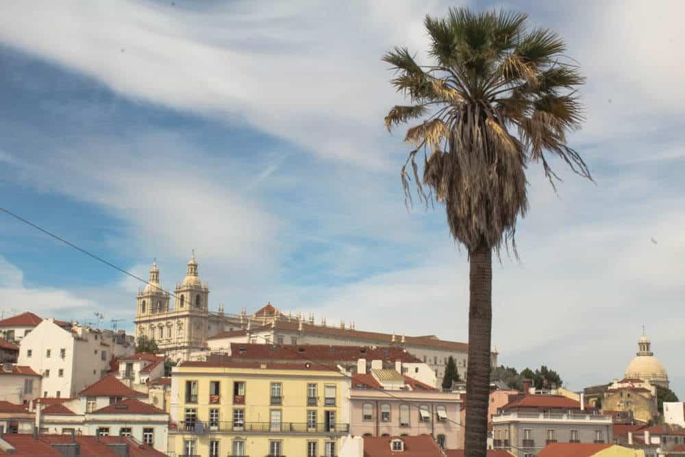 Blick auf Kirche São Vicente Fora