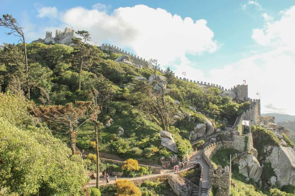 Castelo dos Mouros vom rechten Rand