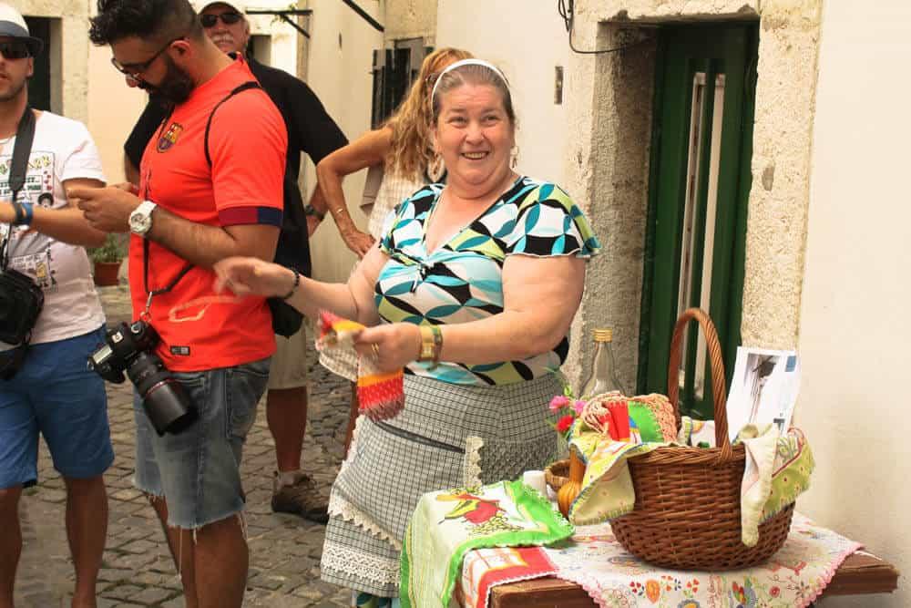 Ginja Verkäuferin Lissabon