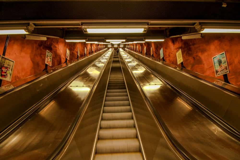 Metro station Rådhuset - Kungsträdgården Aufgang