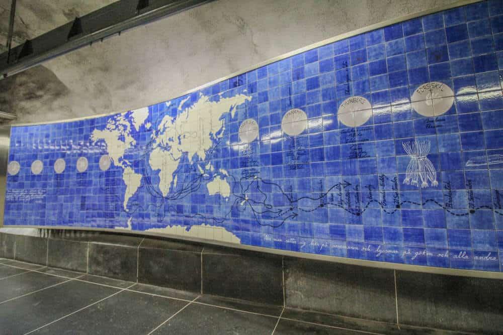 Metro Stockholm - Metrostation Universitetet