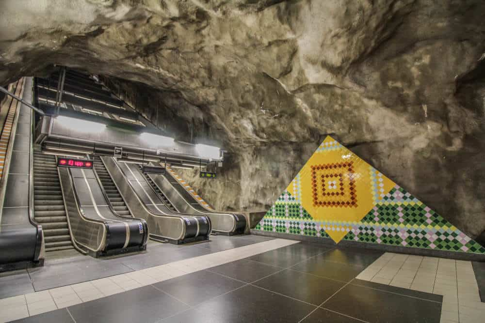 Metro station Västra skogen