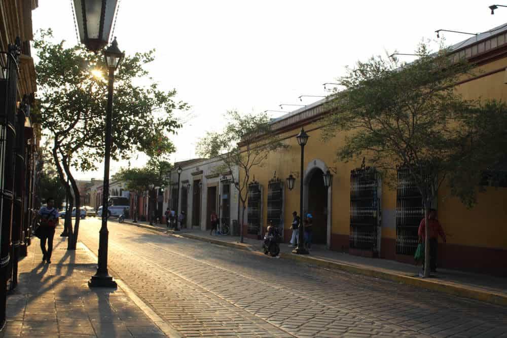 Oaxaca im Sonnenuntergang