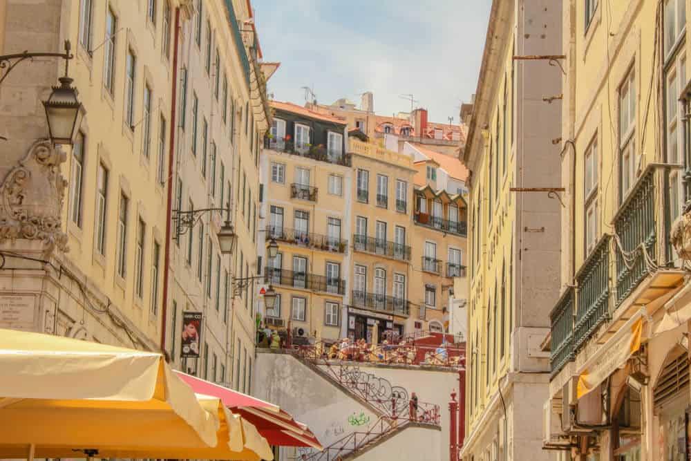 Lisbon - Straße Lissabon Rossio