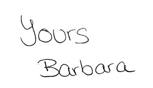 Yours Barbara