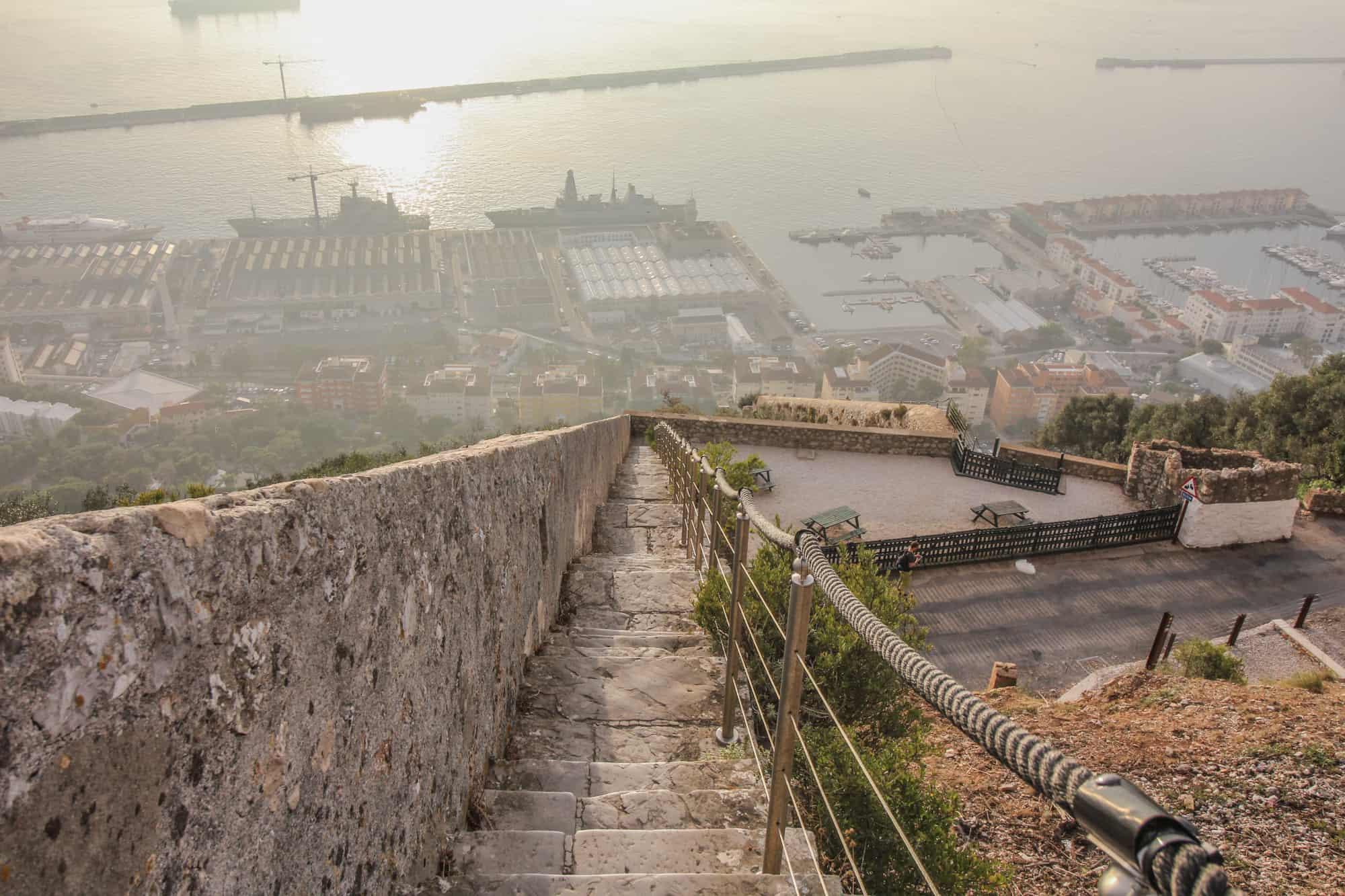 Treppe Rock of Gibraltar