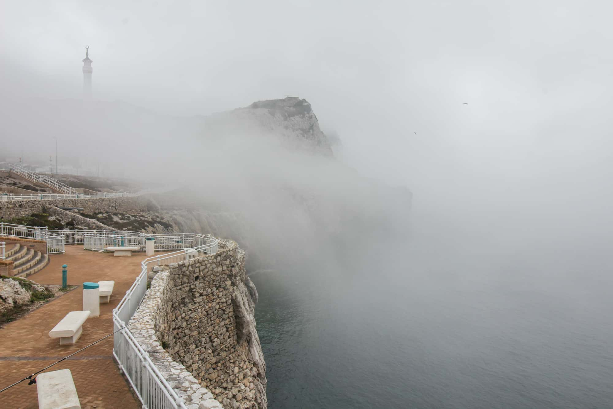 Nebel über dem Europa Point