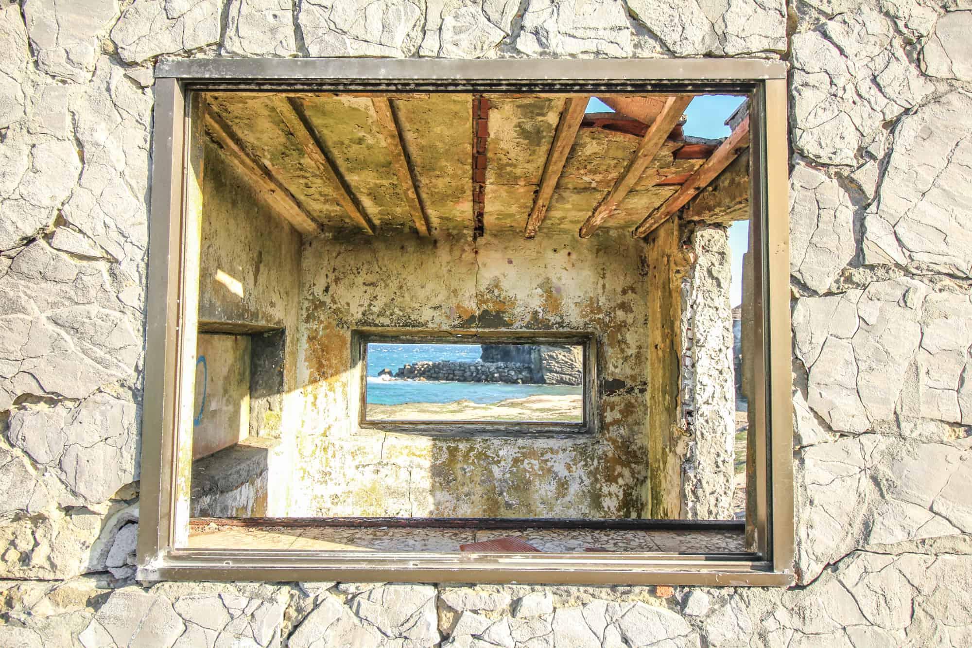 Fenster La Isla de Tarifa