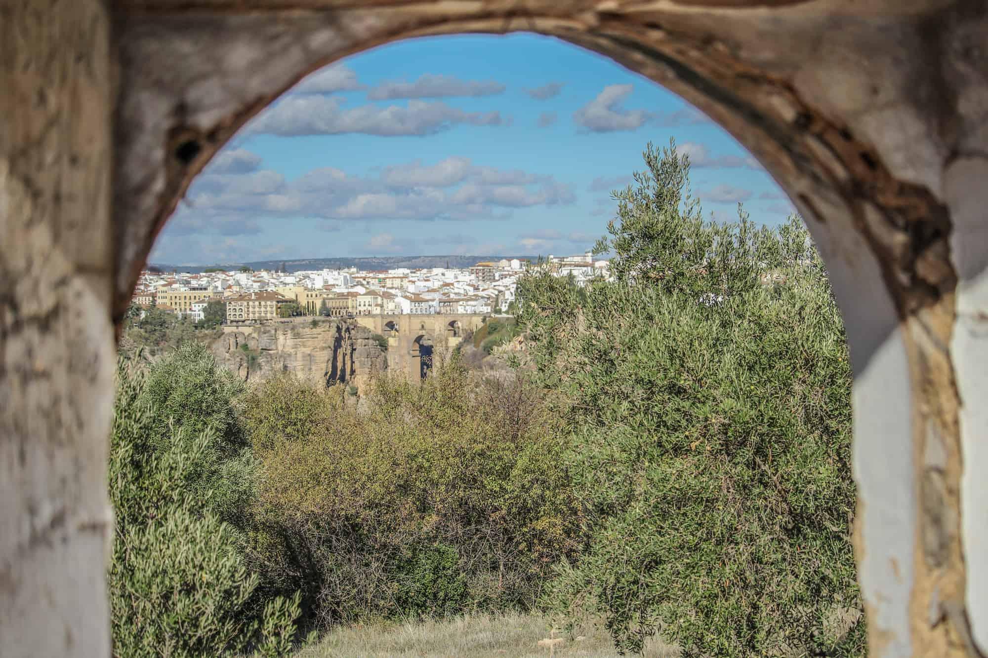 Ruine Blick auf Ronda