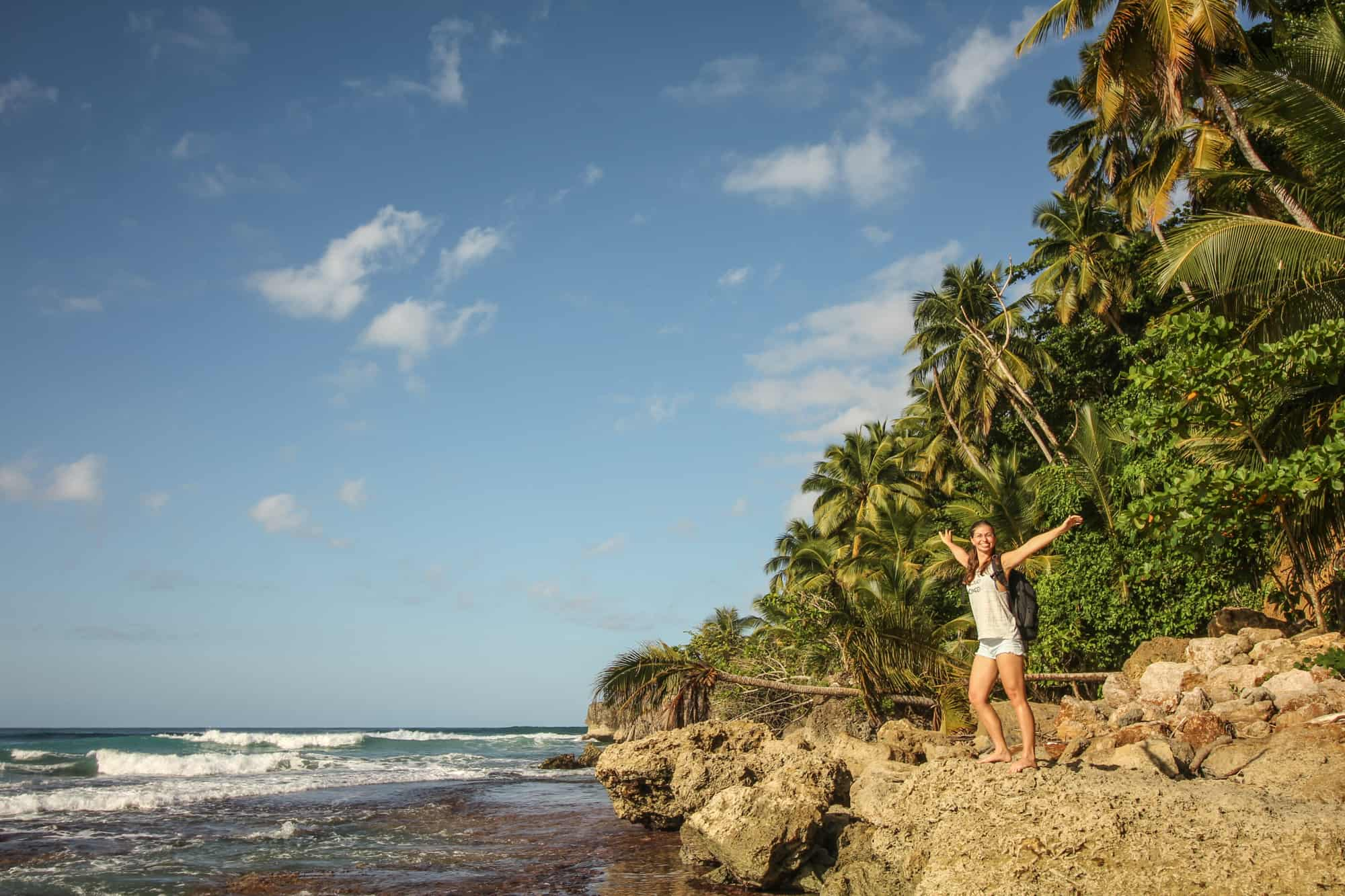 Lagunen und Strände in der Dominikanischen Republik – Barbara am Playa Grande