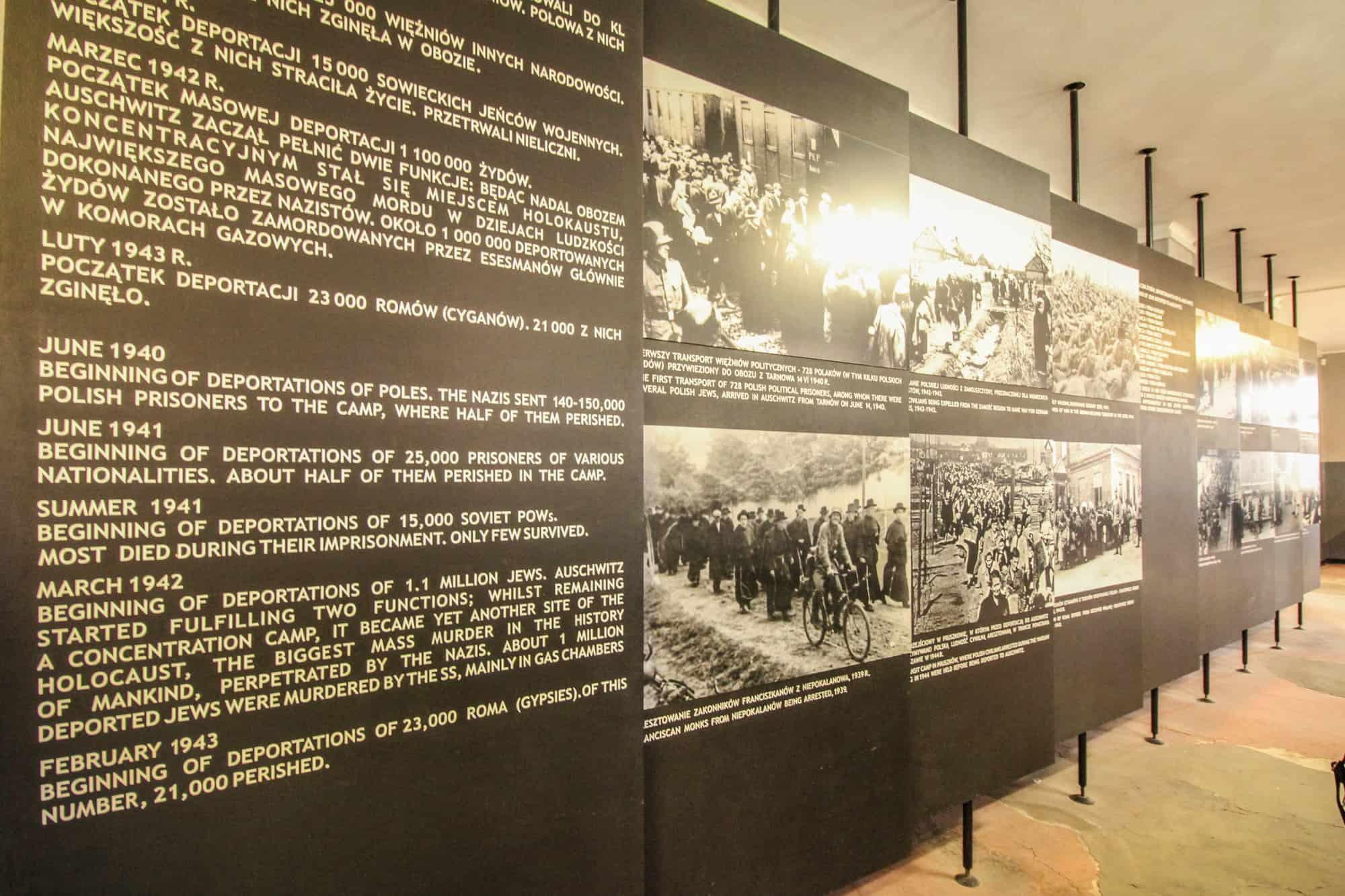 Auschwitz 1 – Tafeln im Museum