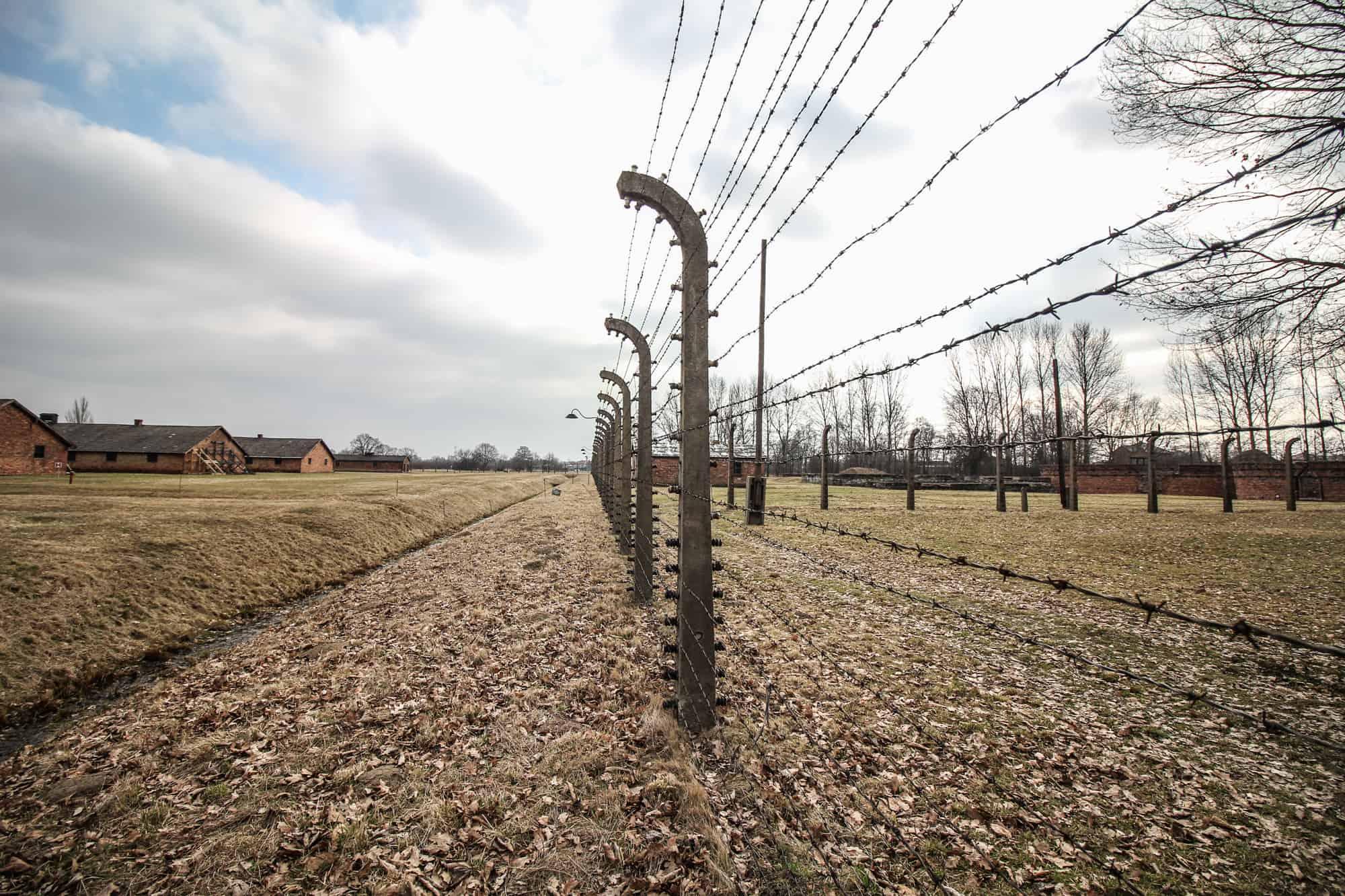 Auschwitz II-Birkenau Stacheldrahtzaun