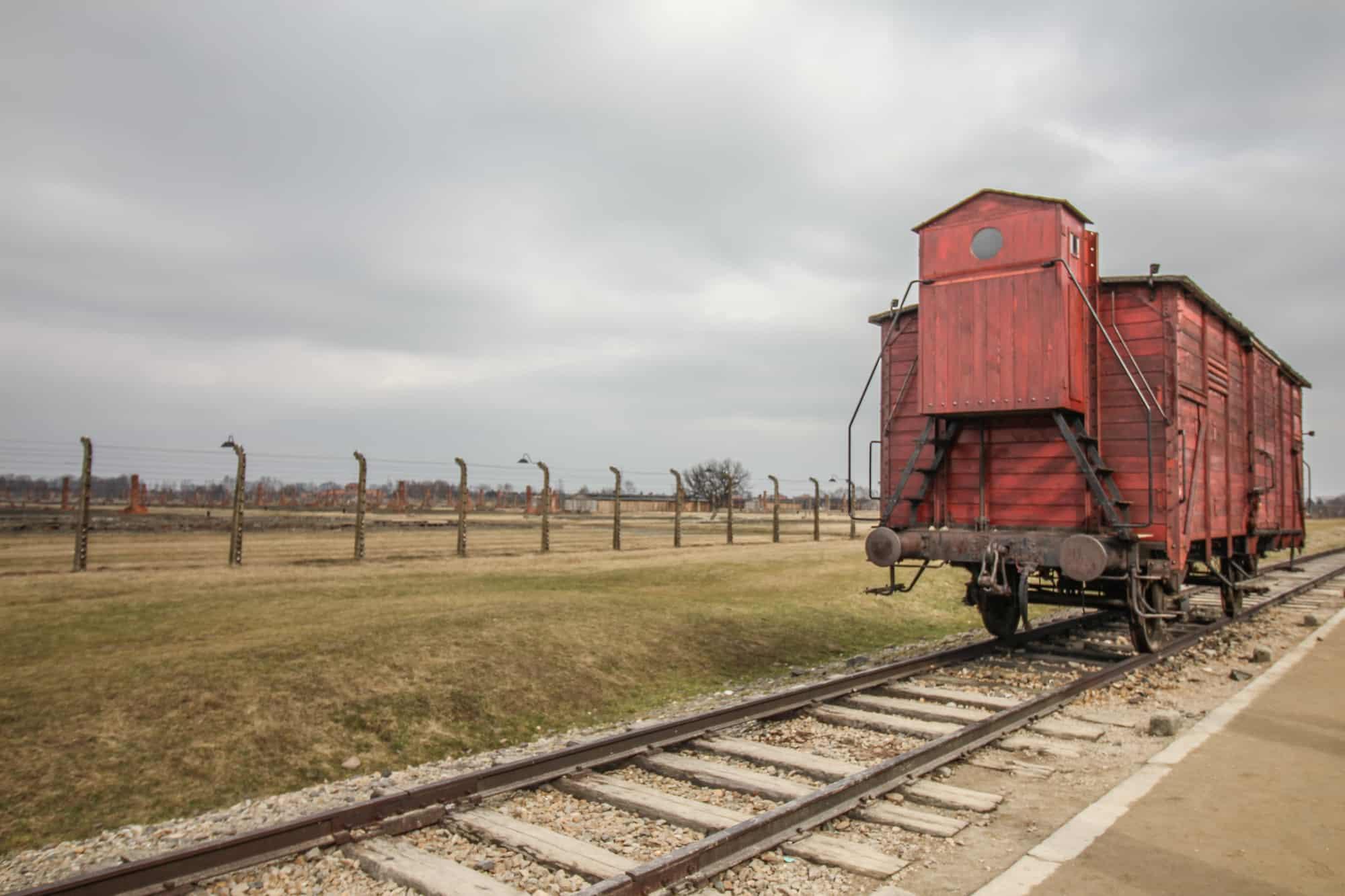 Zugabteil in Auschwitz II-Birkenau
