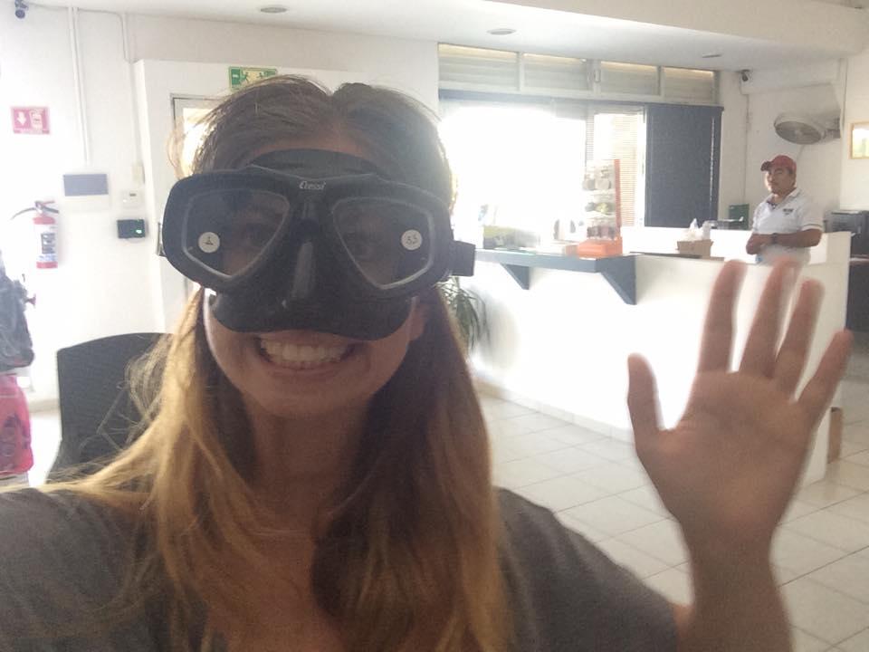 Ich mit Tauchmaske