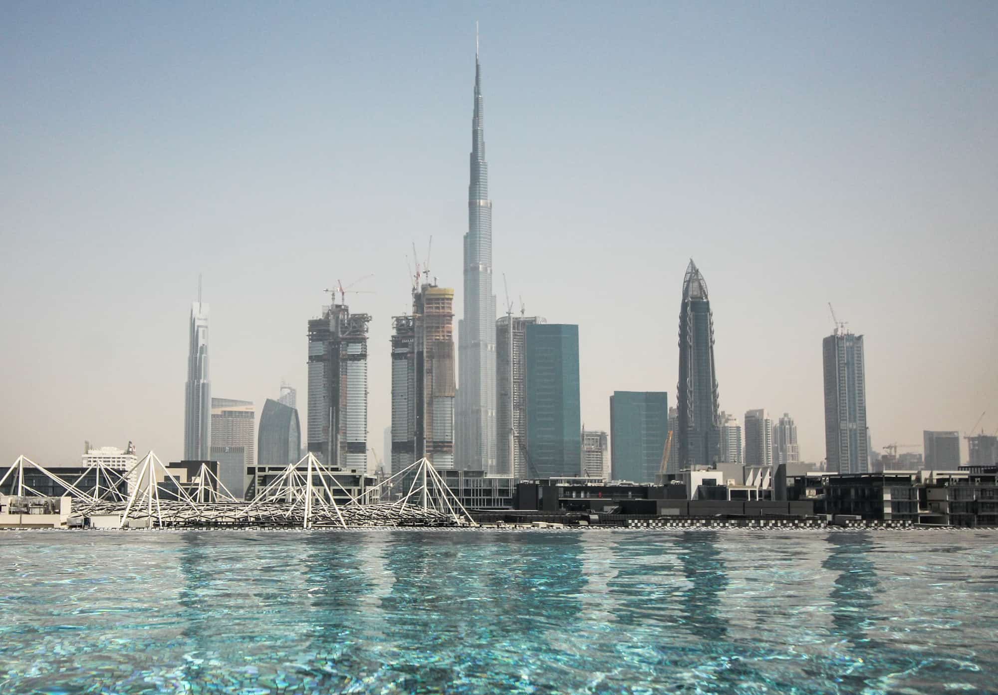 Photo Spots in Dubai – Burj Khalifa from the Hotel La Ville