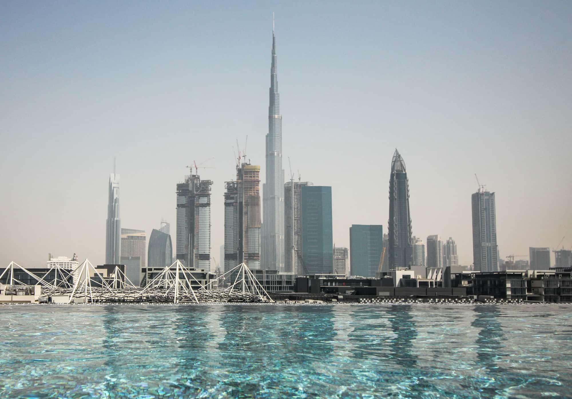 Photo Spots in Dubai – Burj Khalifa from the Hotel La Ville