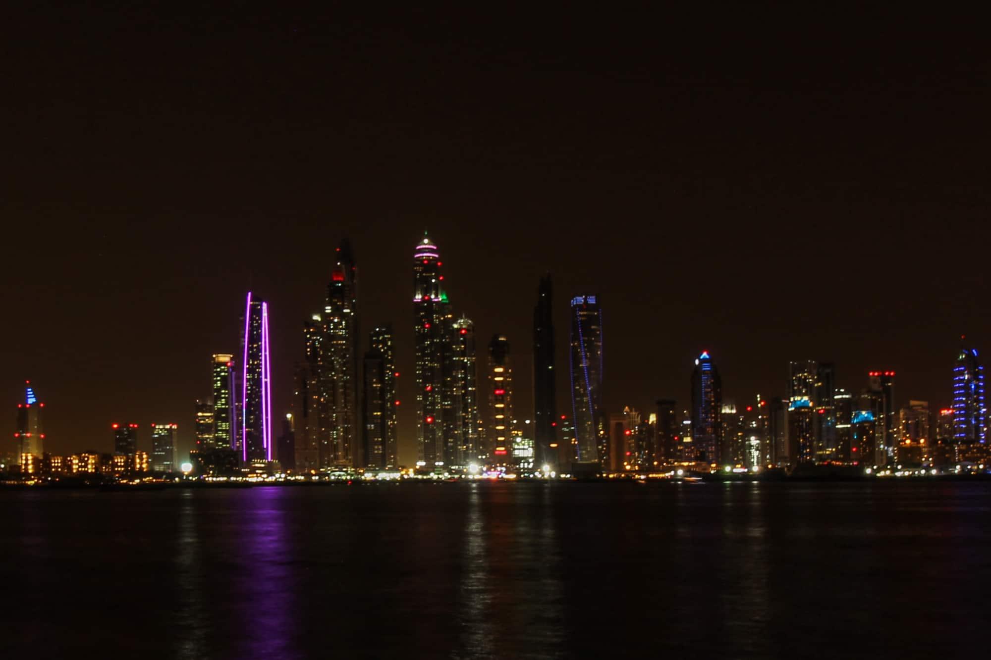 Photo Spots in Dubai – Dubai Skyline from The Palm