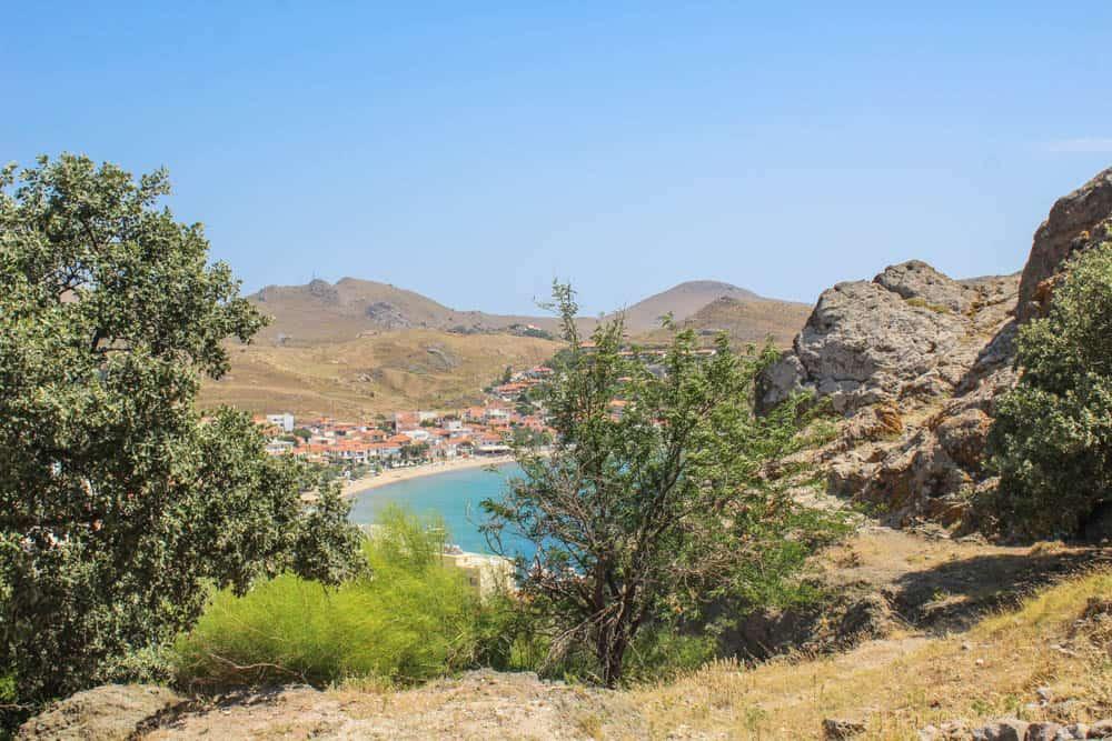 Blick auf die Bucht Lemnos