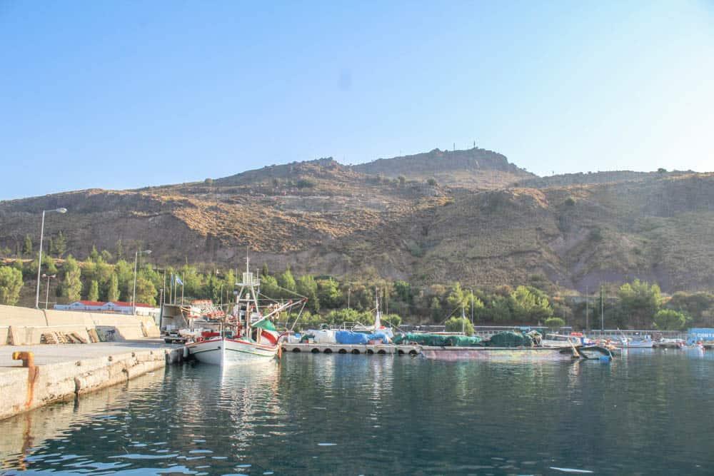 Im Hafen Lesbos