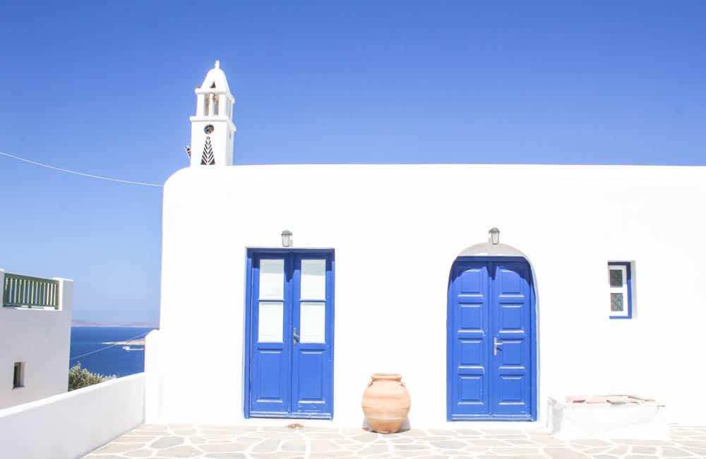 Weiß-blaues Haus Mykonos