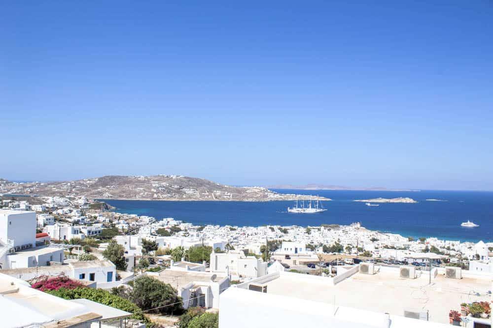 Blick über Mykonos