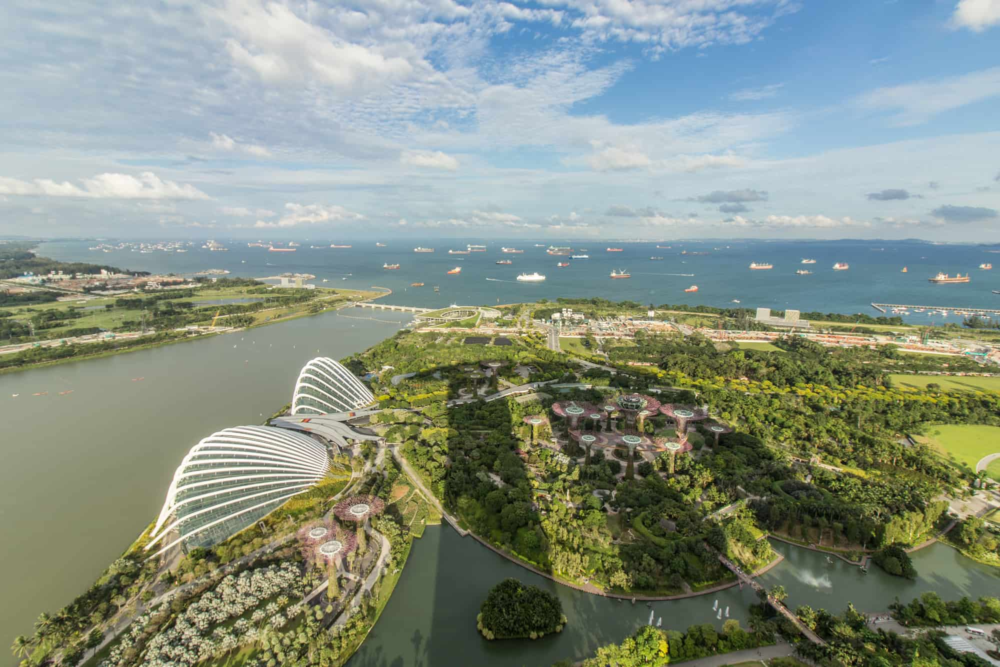 Photo Spots in Singapore: Gardens by the Bay vom SkyPark