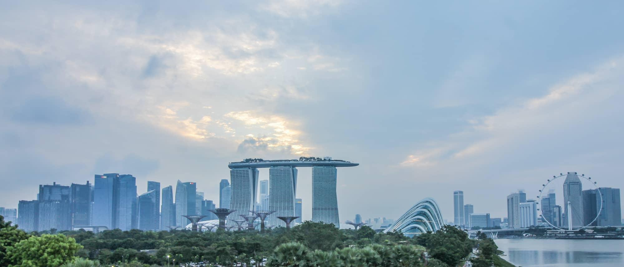 Photo Spots in Singapore: Skyline von Marina Barrage