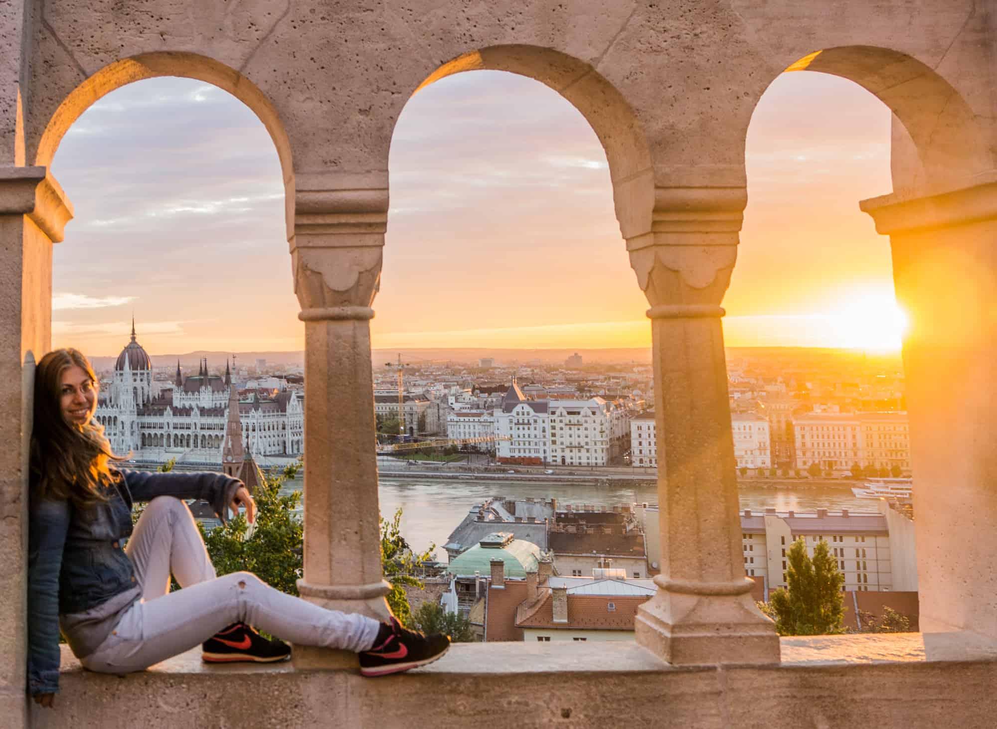 Sonnenaufgang in Budapest
