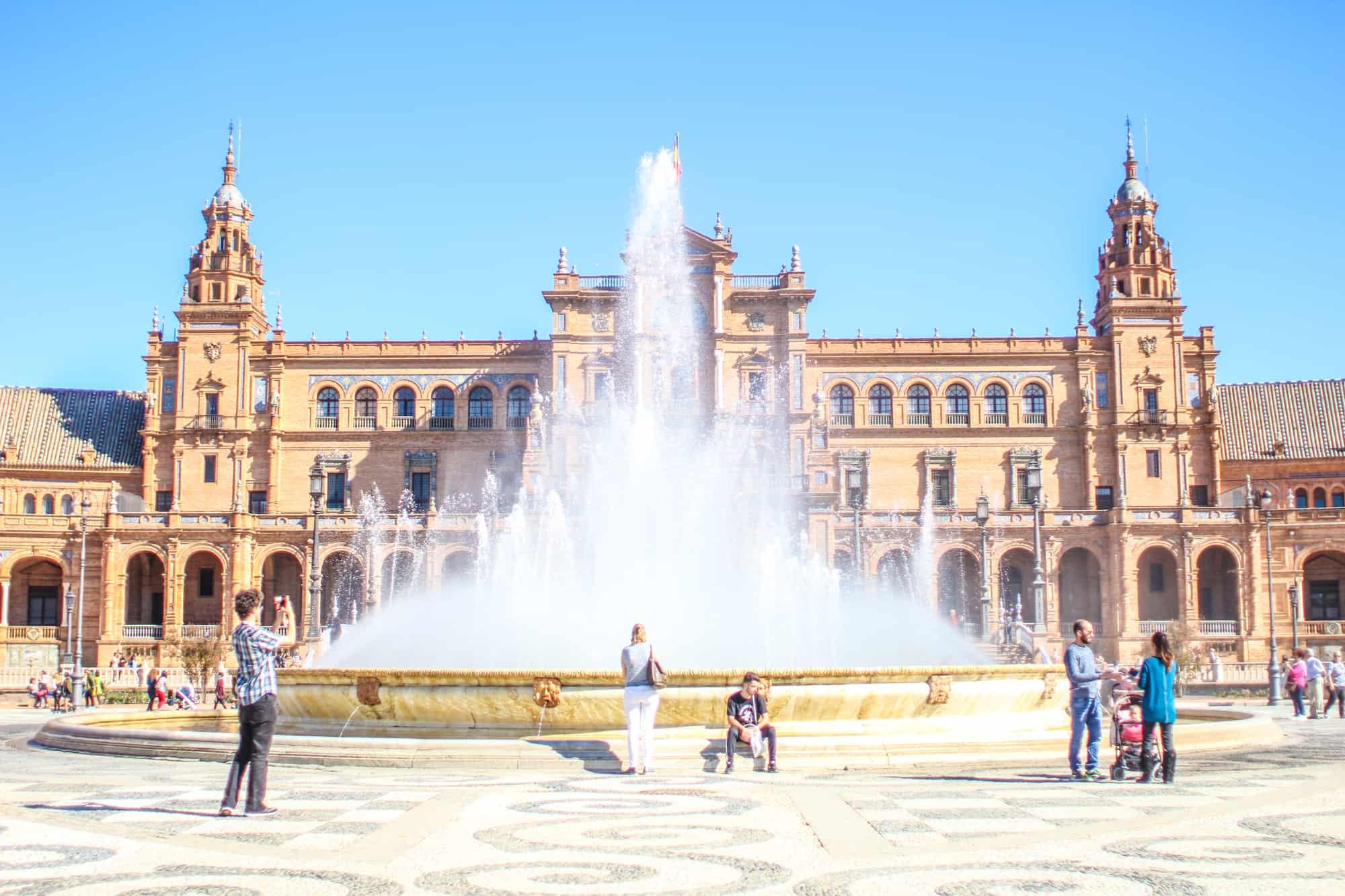 Brunnen Plaza de Espana