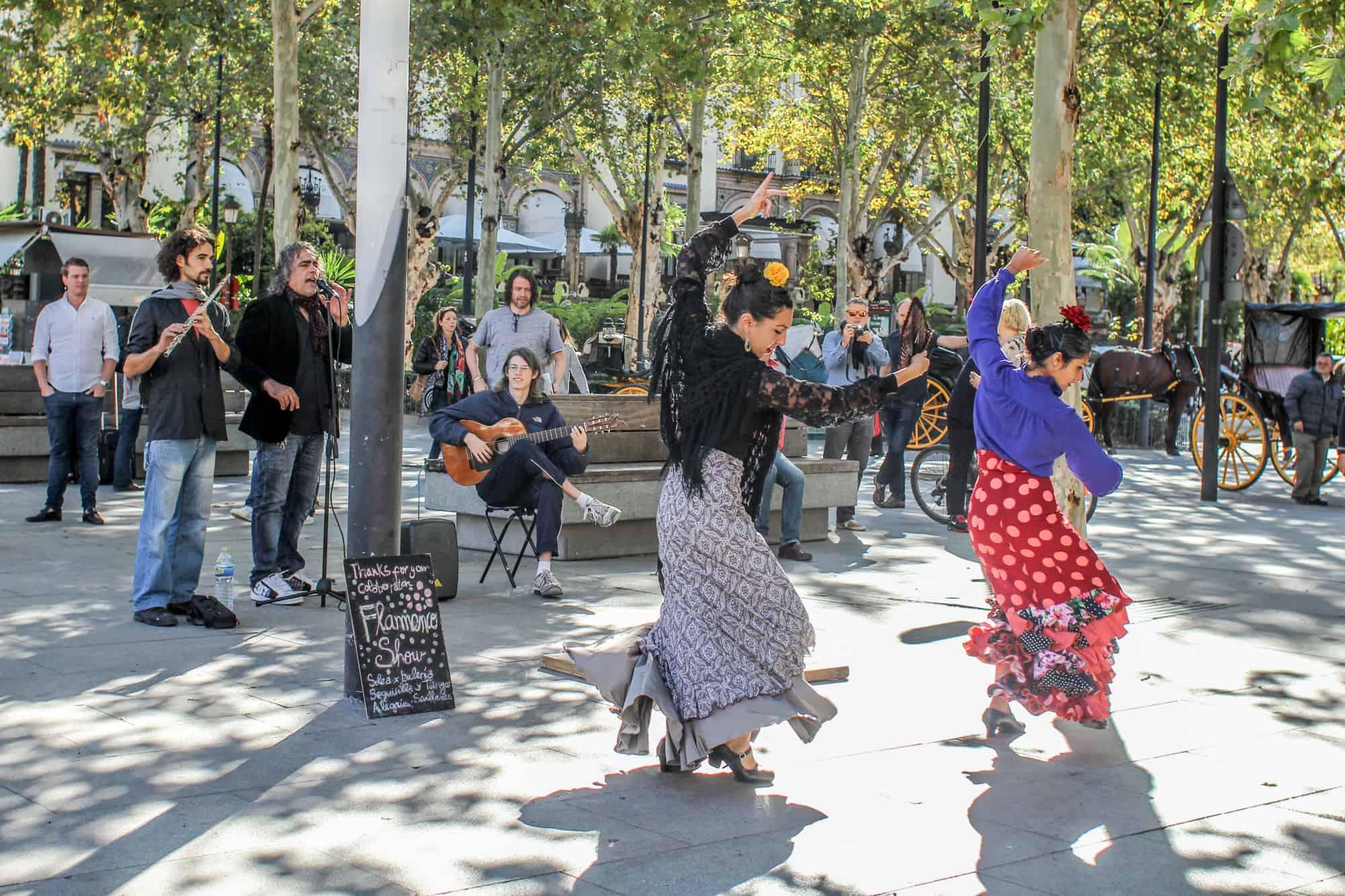 Flamenco-Tänzerinnen Sevilla