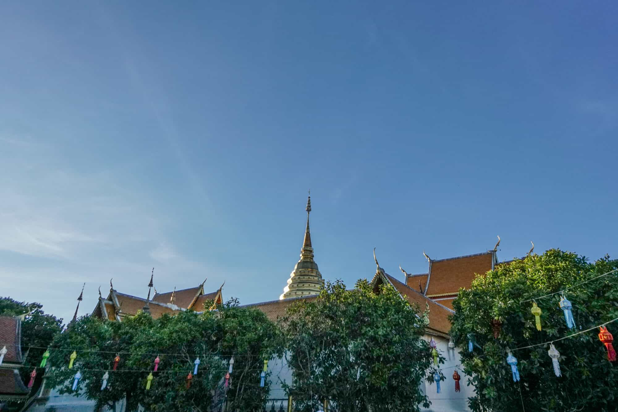 Wat Phra That Doi Suthep Goldene Chedi