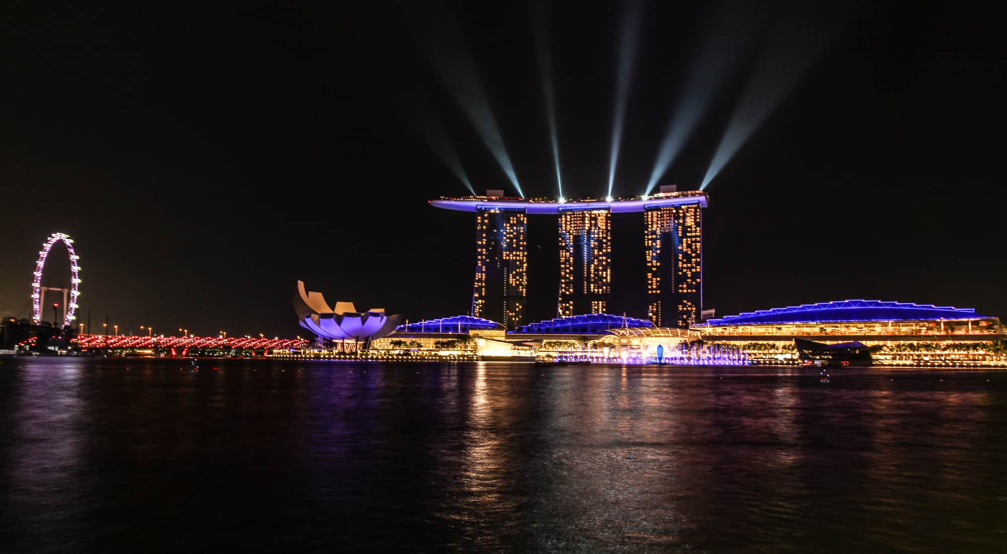 Marina Bay Lightshow – Marina Bay Sands