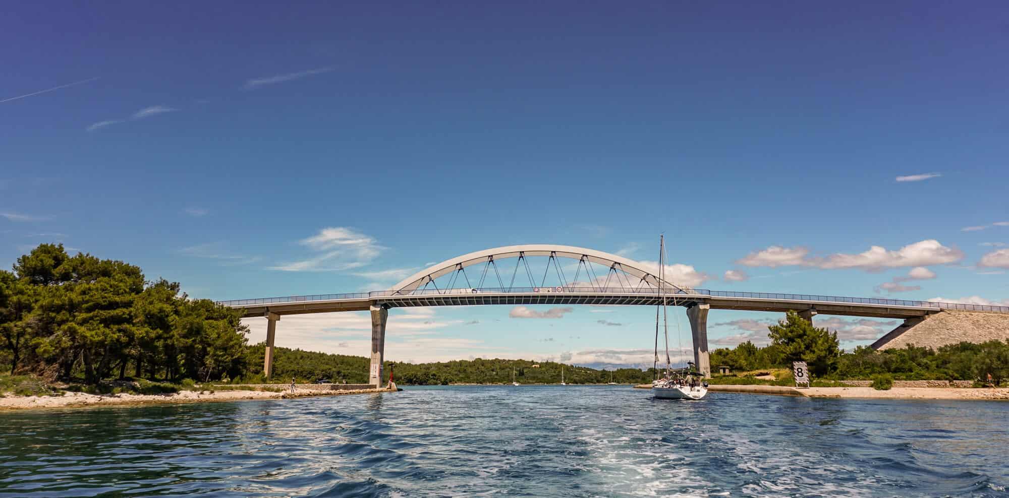 Brücke Kornaten bei Zadar