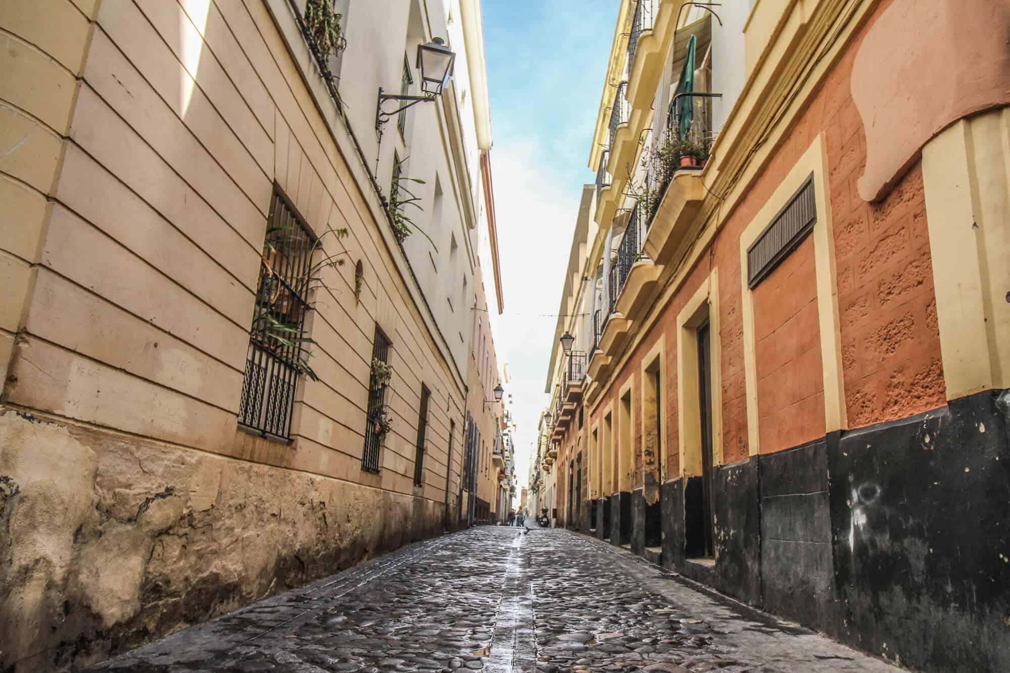 Einsame Straße Cadiz