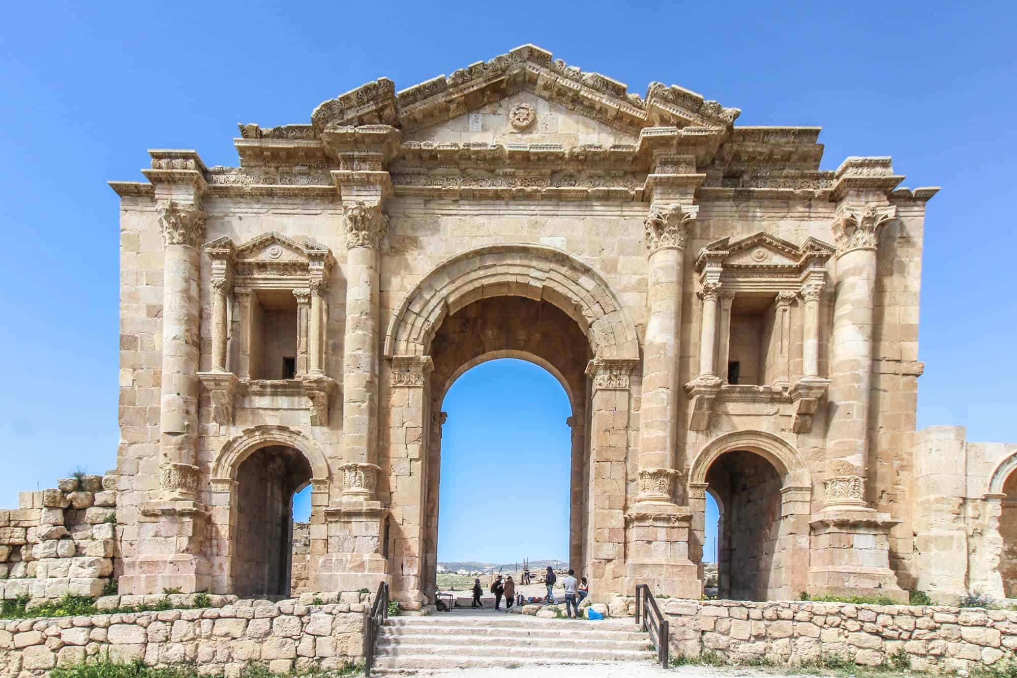 Hadrian Bogen Jerash Hadrian Door