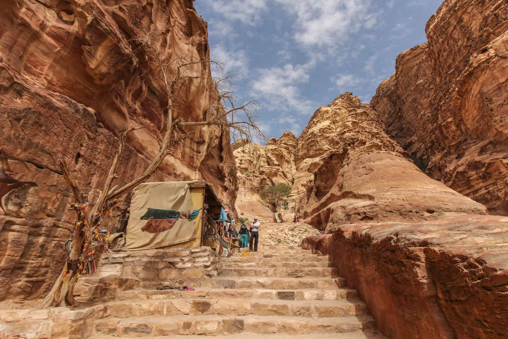 Stairs With Bedouins Petra