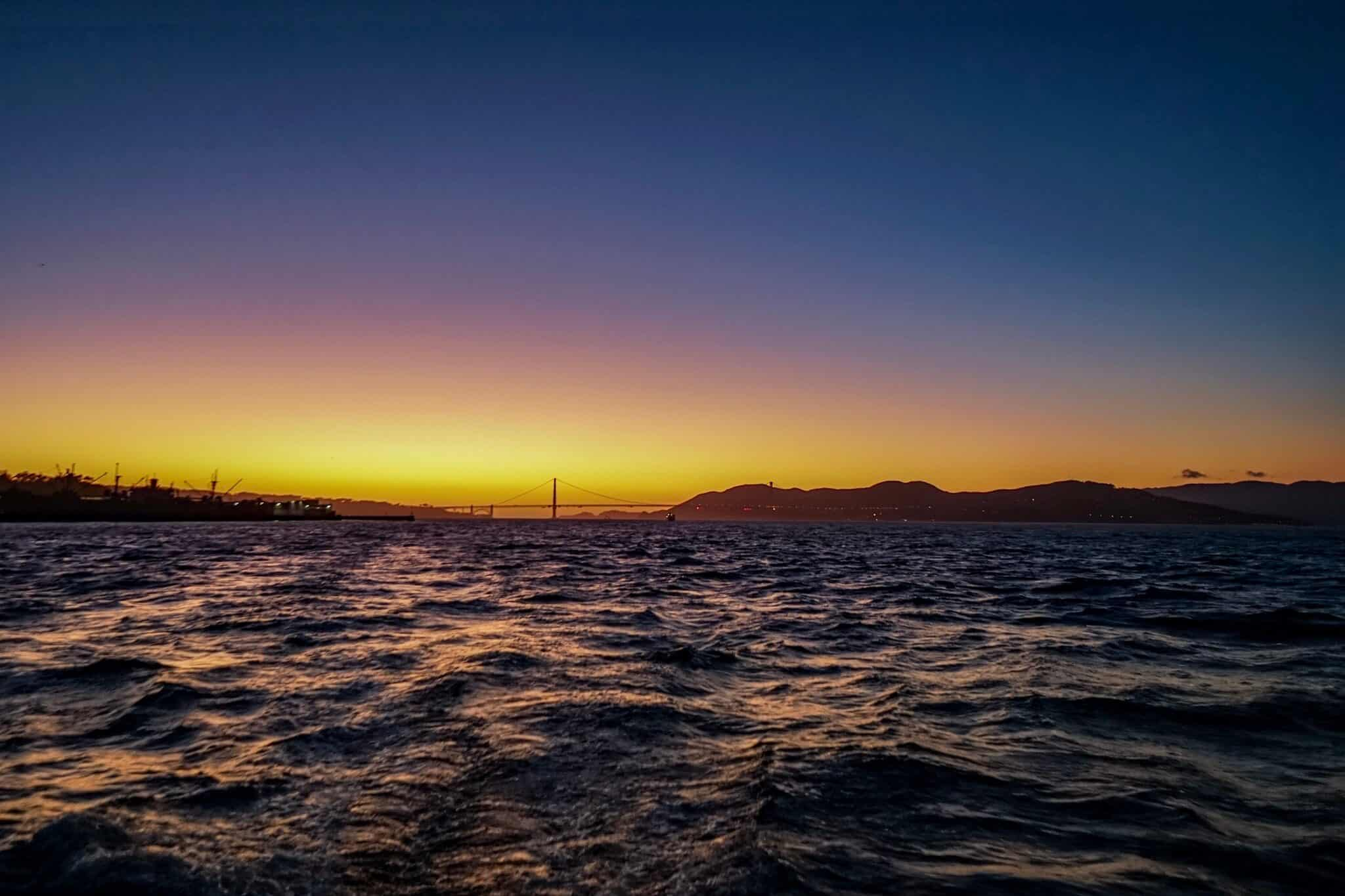 Sunset Cruise San Francisco Adventure Cat Sailing
