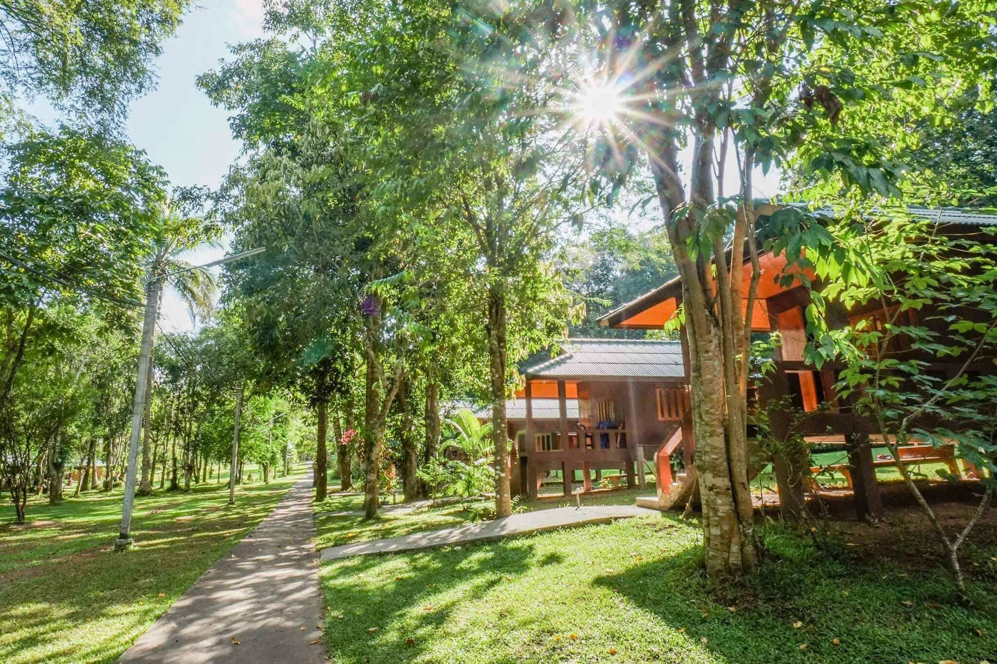 Kutis im Wat Pa Tam Wua Forest Monastery