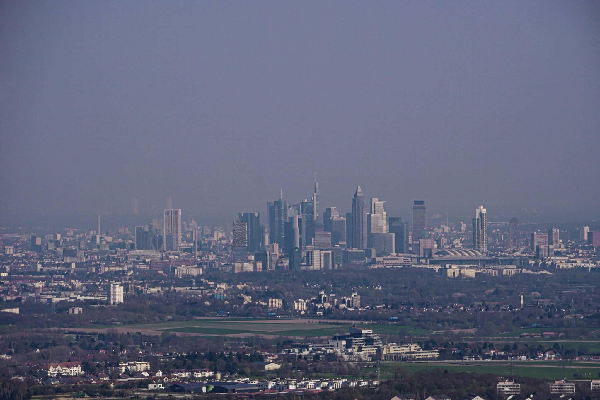 Ausblick vom Großen Mannstein auf Frankfurt