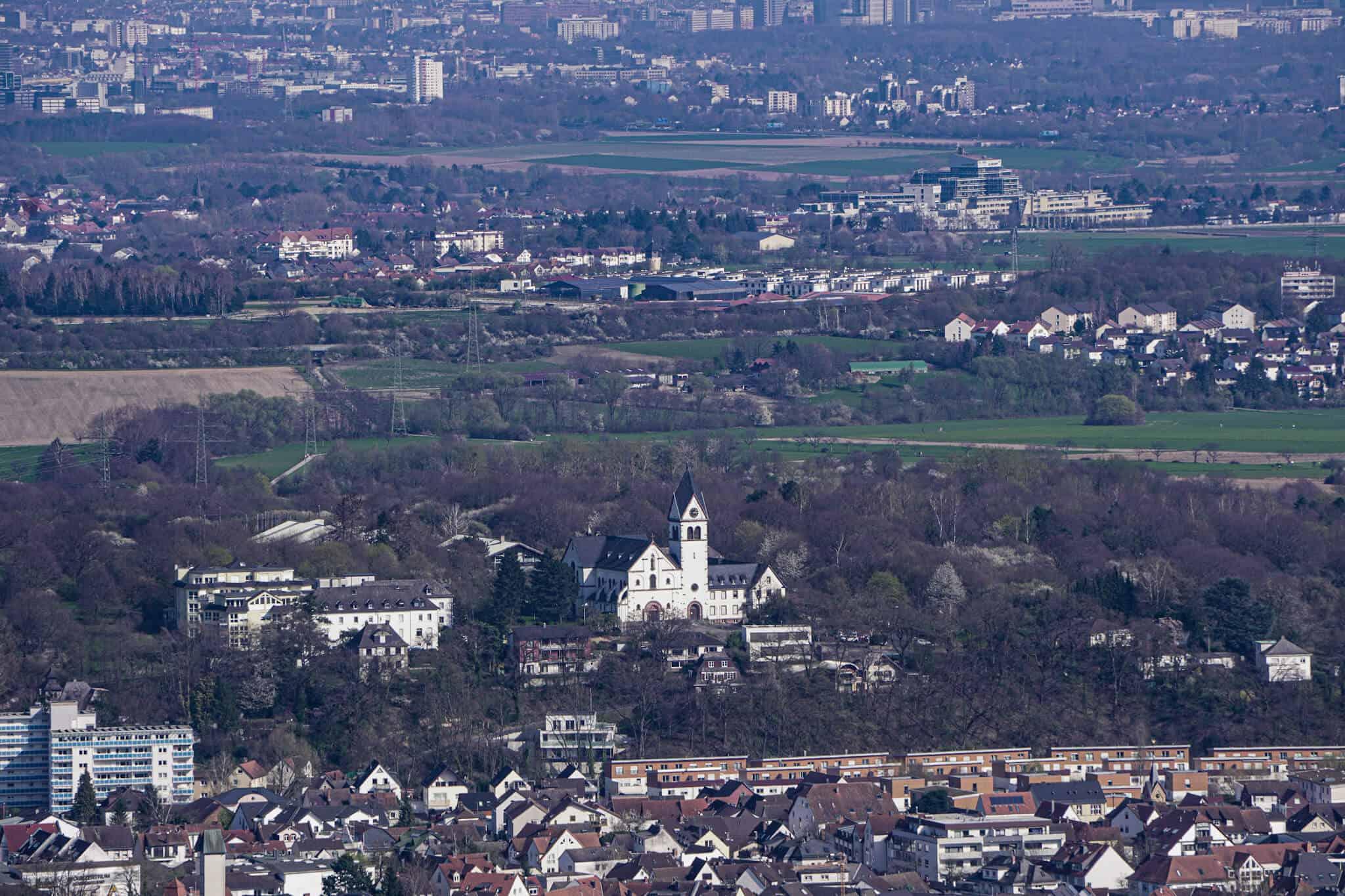 Ausblick vom Großen Mannstein auf Kelkheim