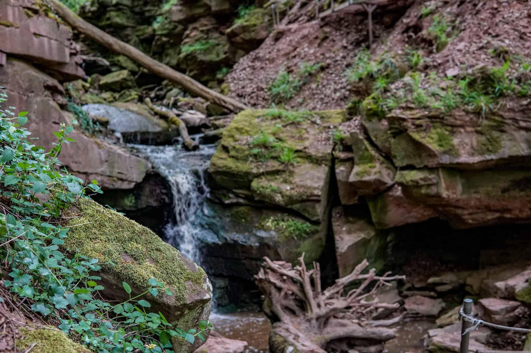 Der Wasserfall in der Margarethenschlucht