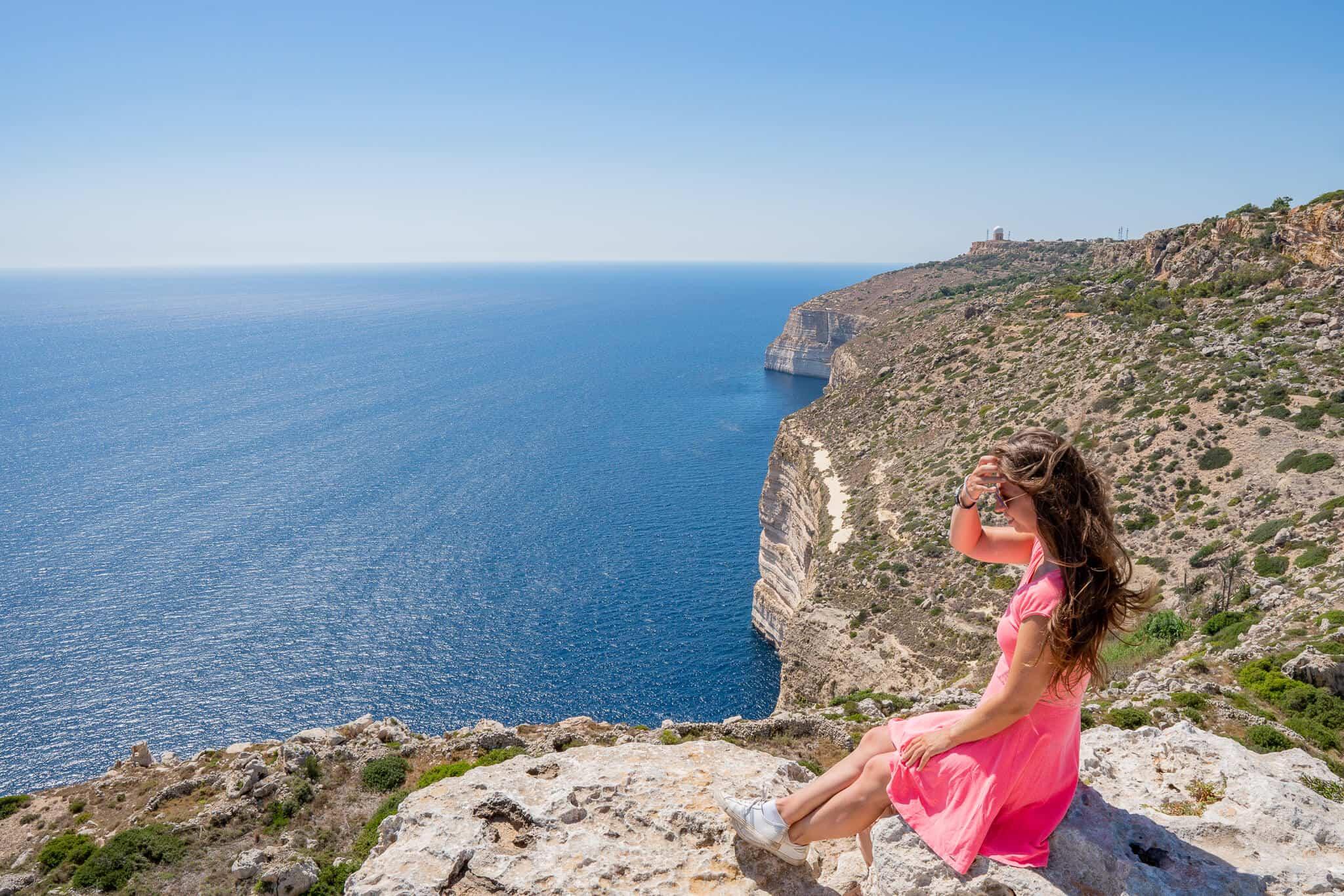 Barbara bei den Dingli Cliffs