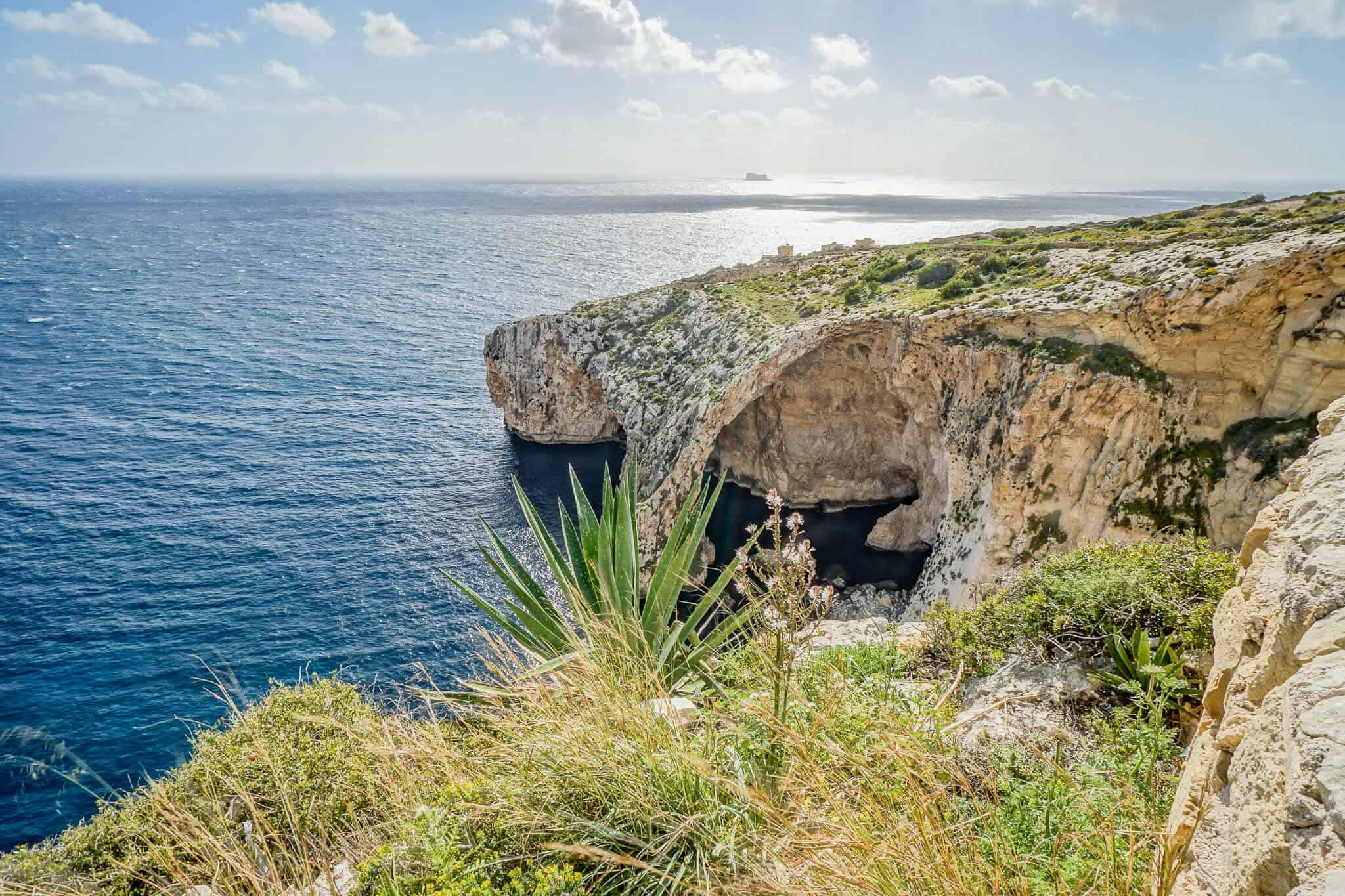 Blue Grotto von oben
