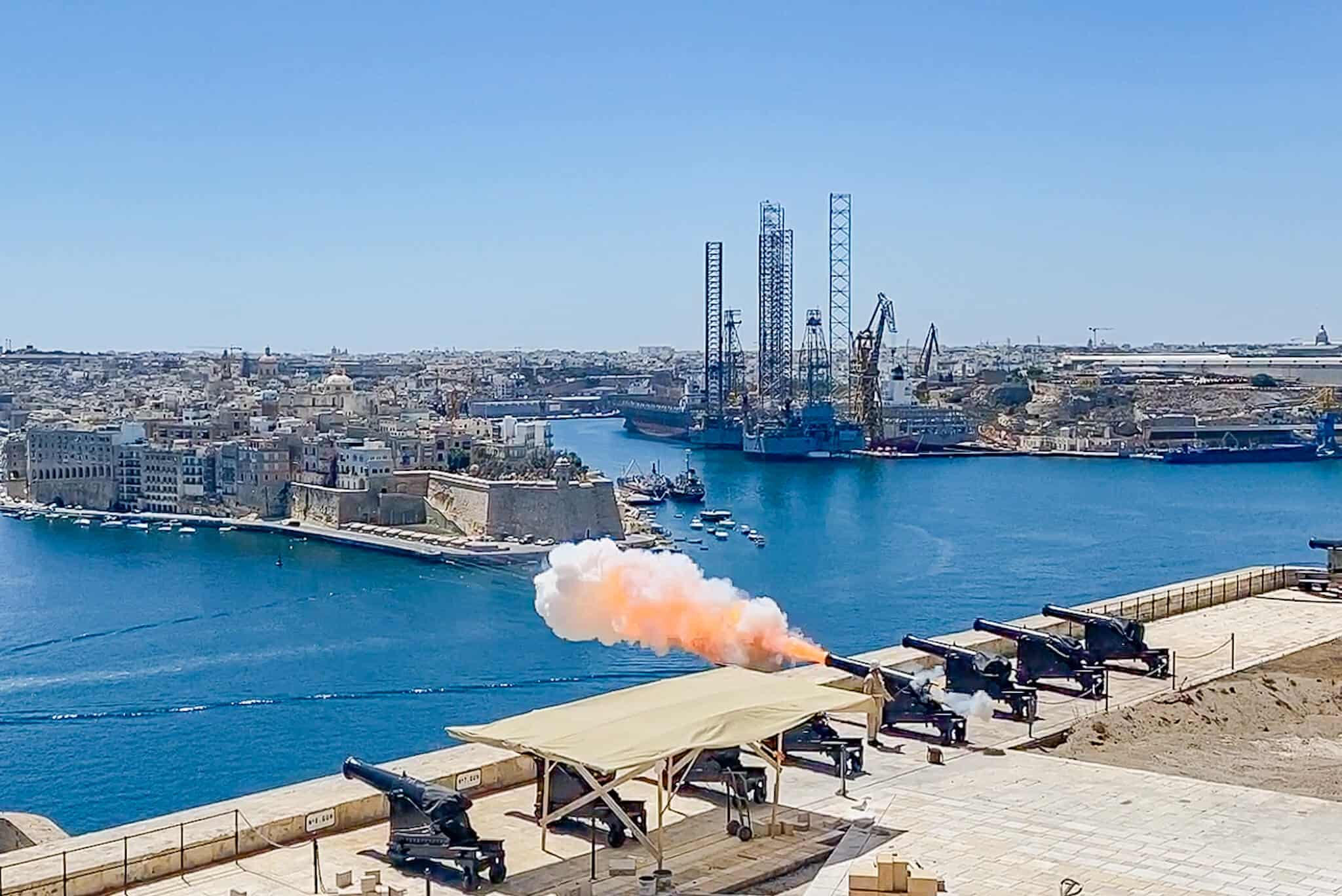 Kanonenschuss & Salut Valletta