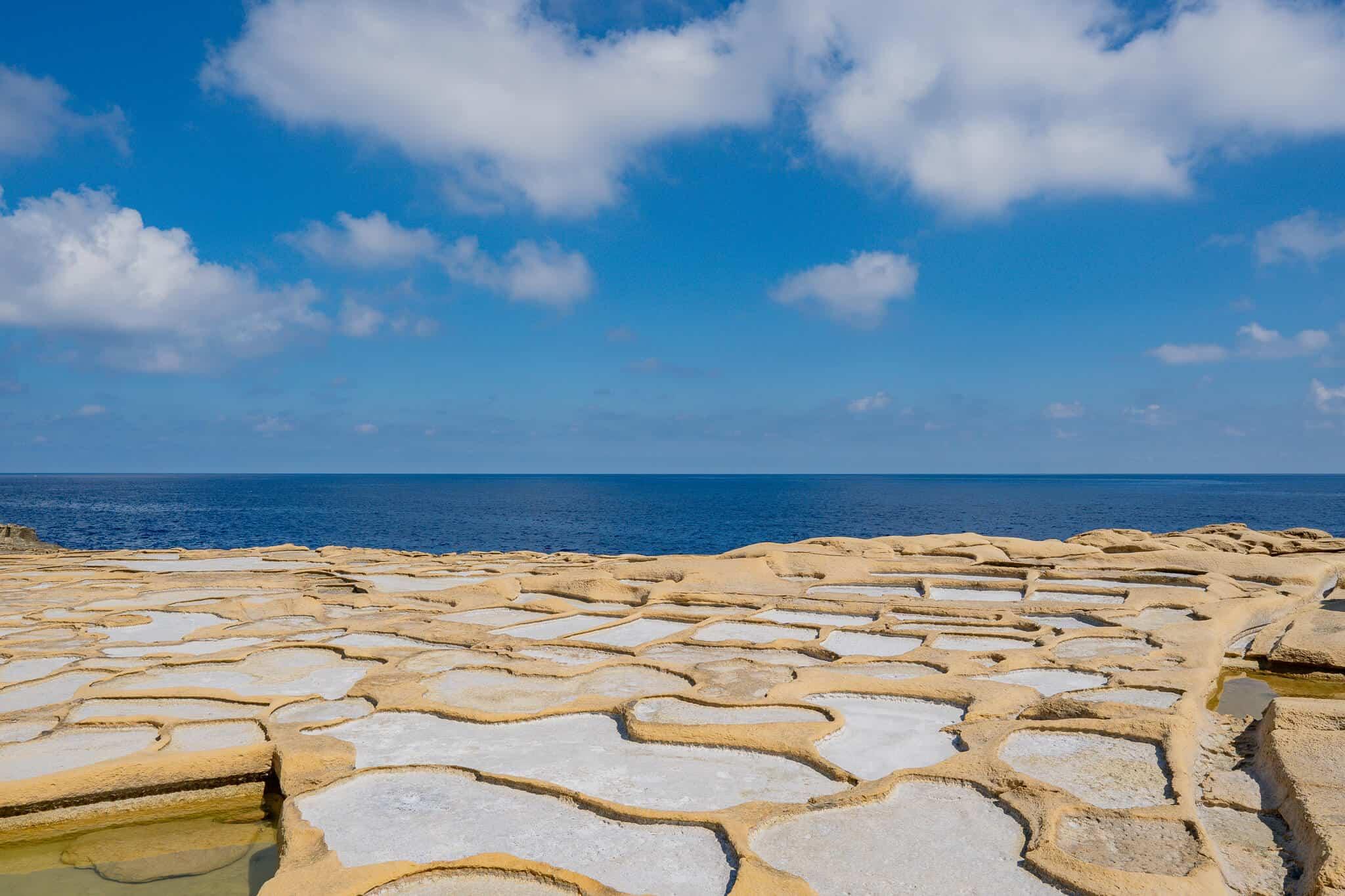 Salzpfannen Xwejni Bay